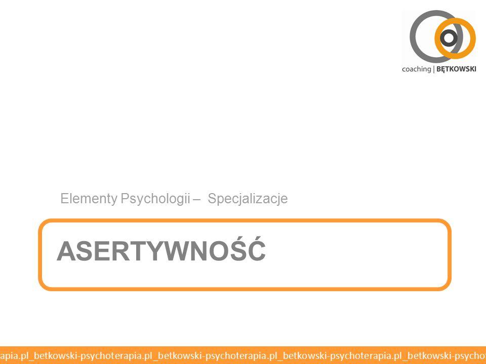 Elementy Psychologii – Specjalizacje