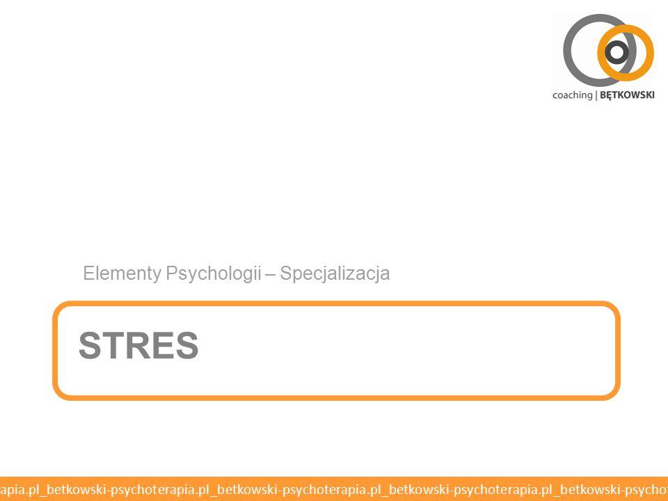 Elementy Psychologii – Specjalizacja