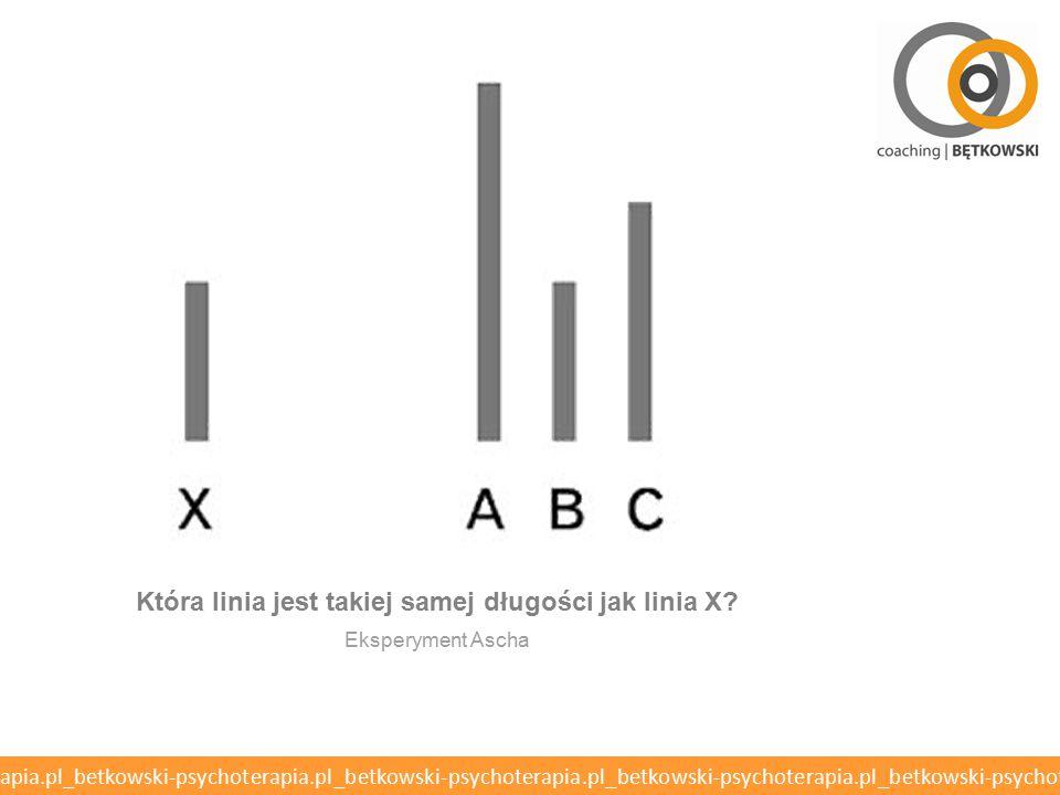Która linia jest takiej samej długości jak linia X