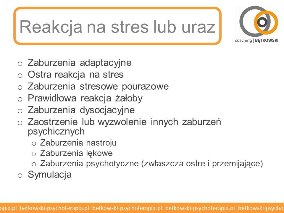 Reakcja na stres lub uraz