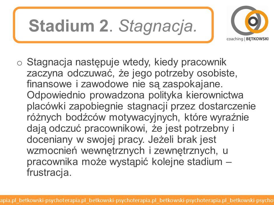 Stadium 2. Stagnacja.