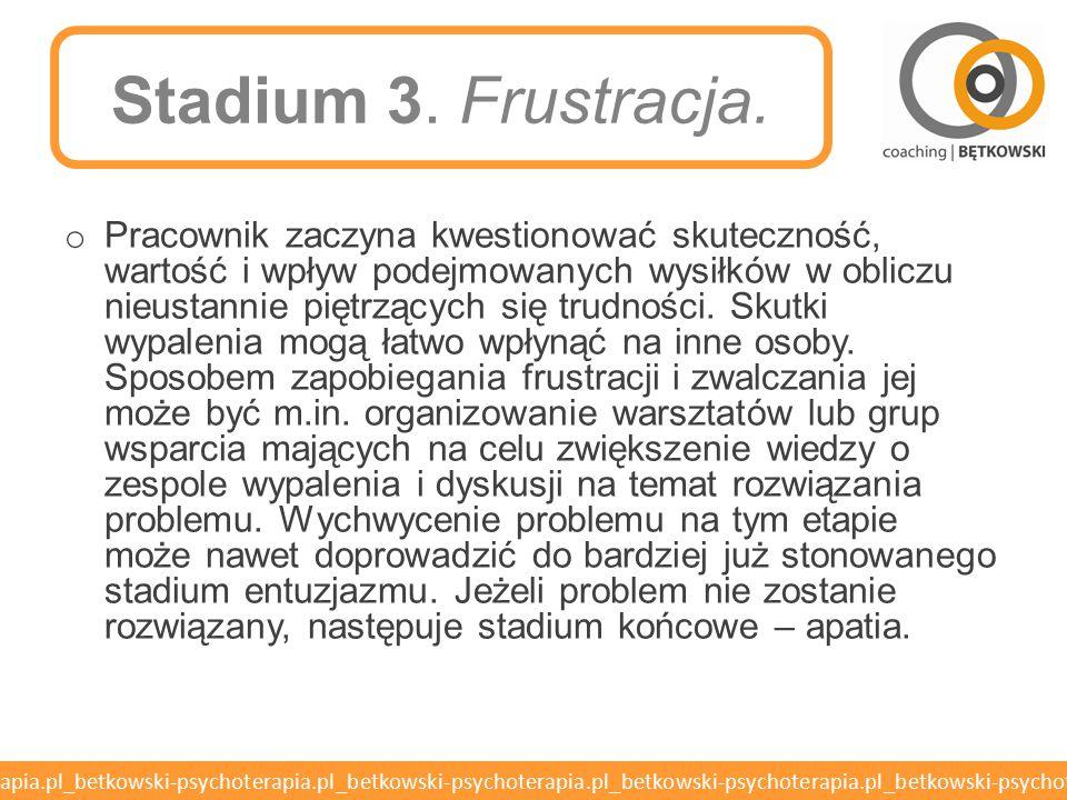 Stadium 3. Frustracja.