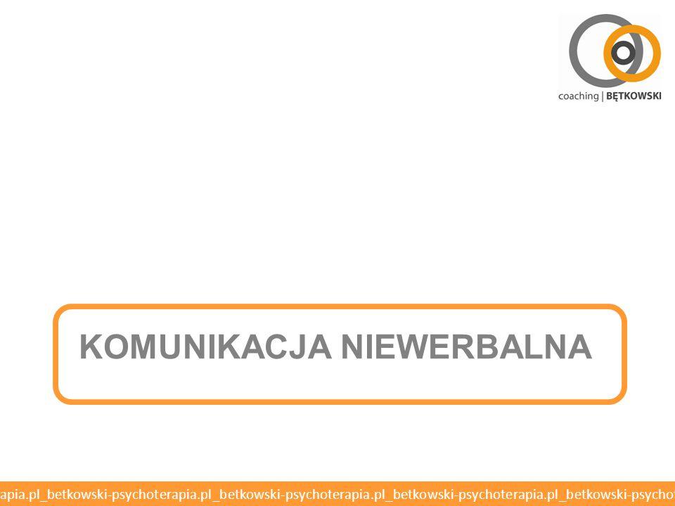 KOMUNIKACJA Niewerbalna