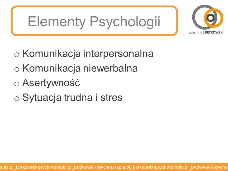 Elementy Psychologii Komunikacja interpersonalna