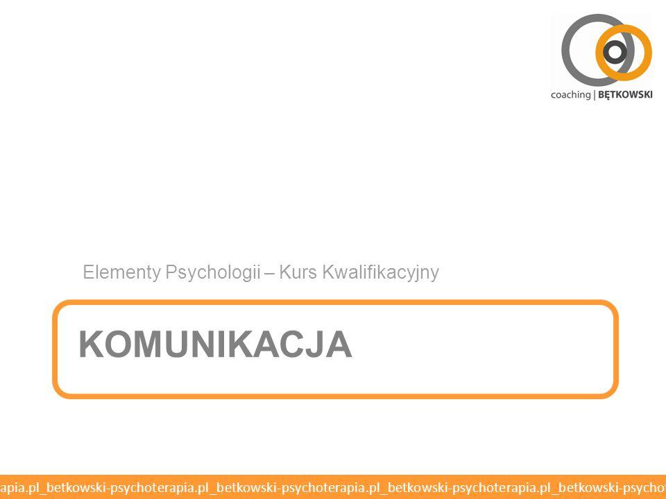 Elementy Psychologii – Kurs Kwalifikacyjny