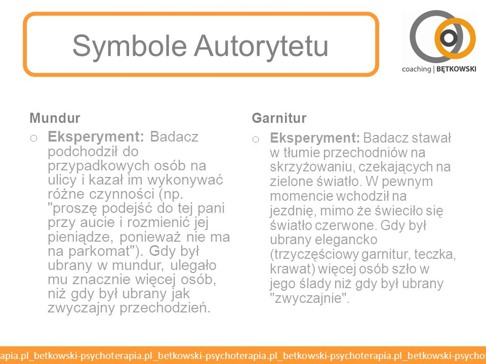 Symbole Autorytetu Mundur. Garnitur.