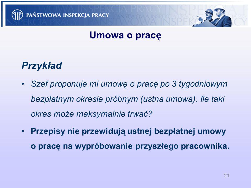 Umowa o pracę Przykład.