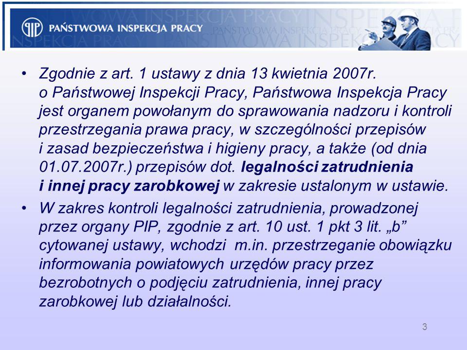 Zgodnie z art. 1 ustawy z dnia 13 kwietnia 2007r