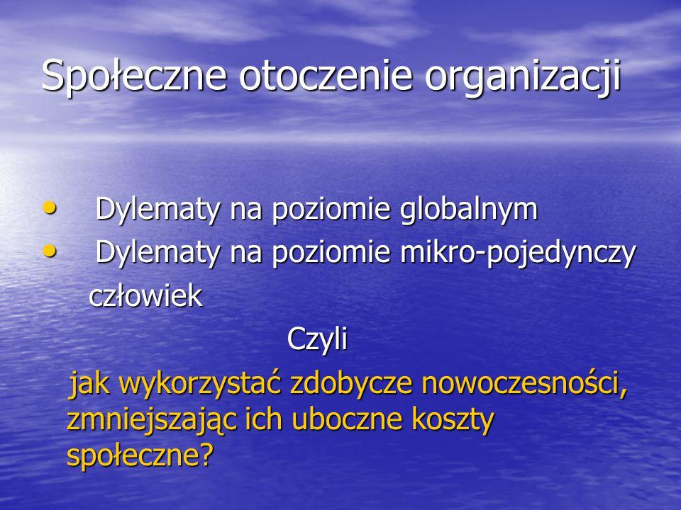 Społeczne otoczenie organizacji