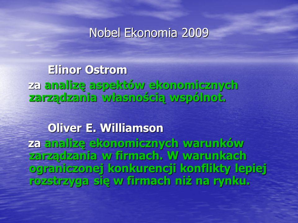 Nobel Ekonomia 2009 Elinor Ostrom
