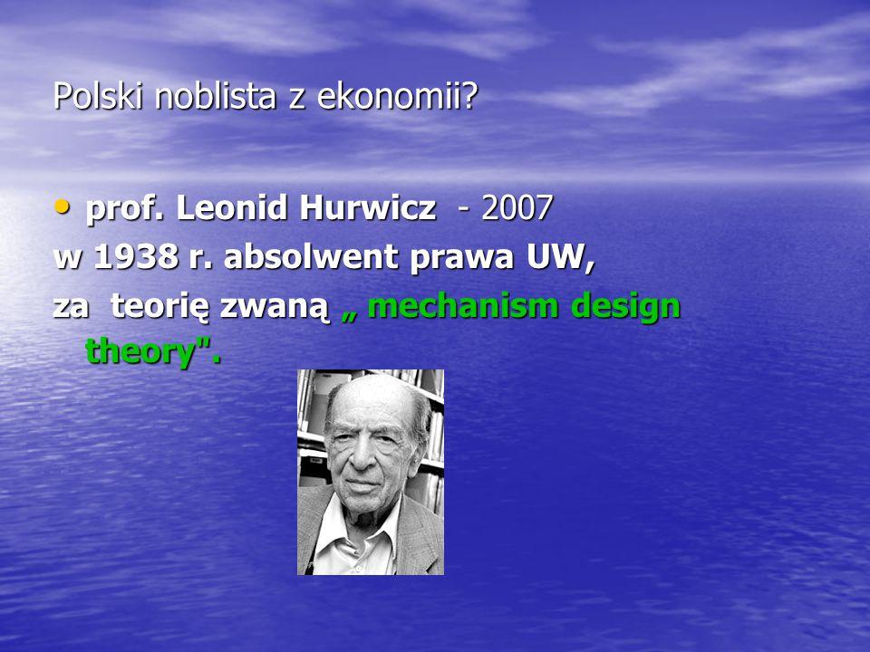 Polski noblista z ekonomii