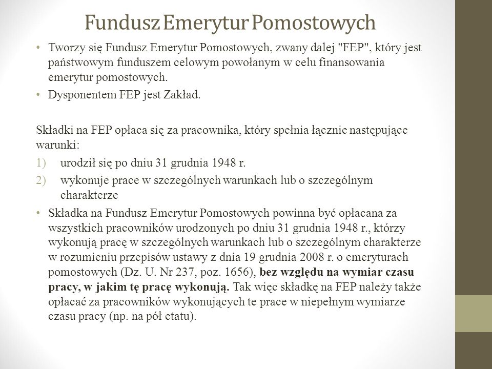 Fundusz Emerytur Pomostowych