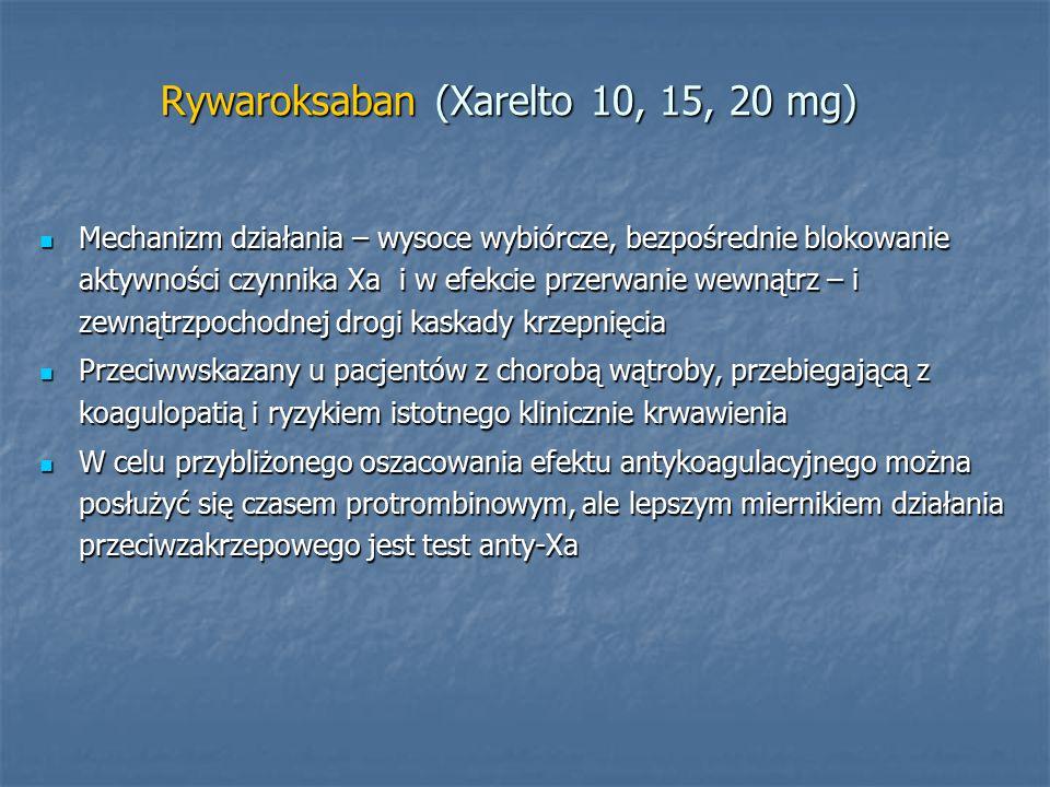Rywaroksaban (Xarelto 10, 15, 20 mg)