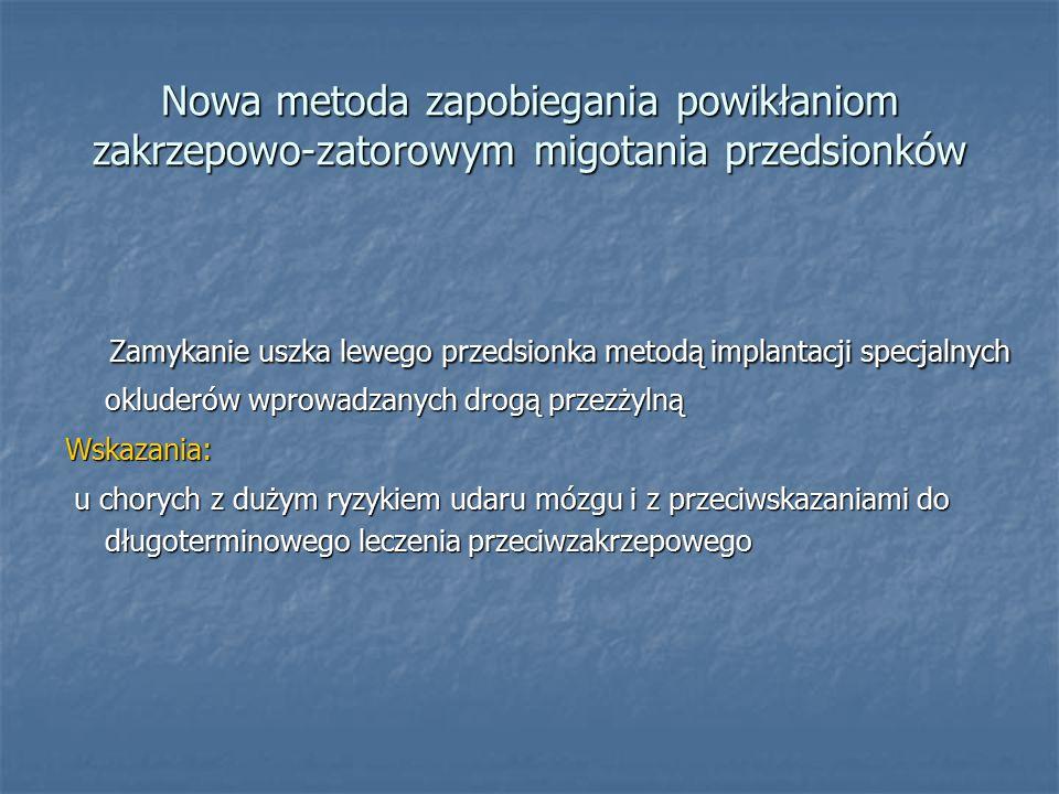 Nowa metoda zapobiegania powikłaniom zakrzepowo-zatorowym migotania przedsionków