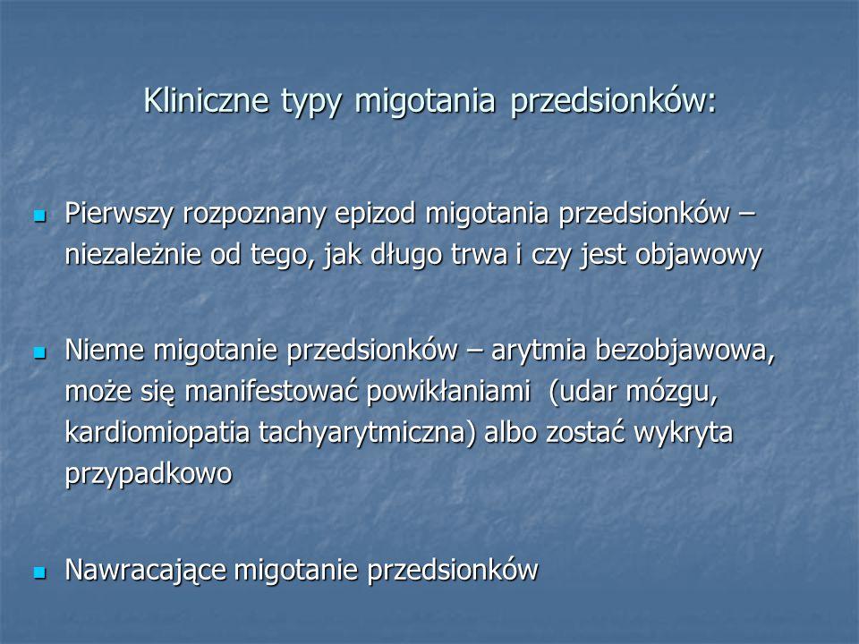 Kliniczne typy migotania przedsionków: