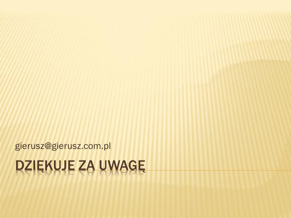 gierusz@gierusz.com.pl Dziękuje za uwagę