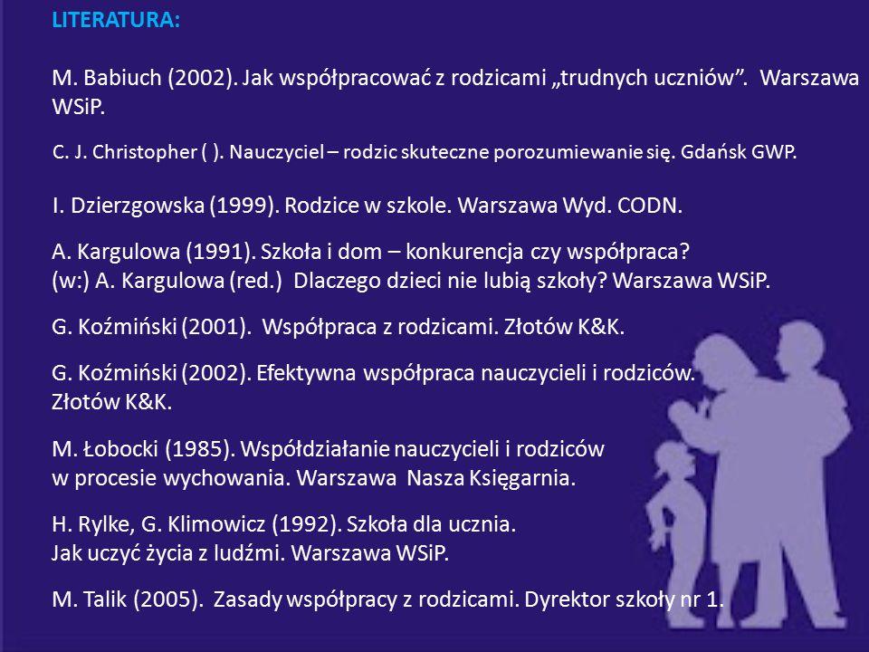 A. Kargulowa (1991). Szkoła i dom – konkurencja czy współpraca