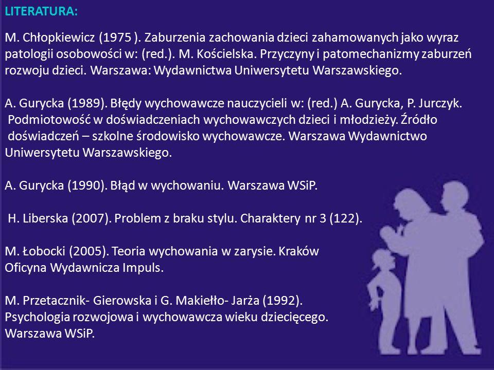 rozwoju dzieci. Warszawa: Wydawnictwa Uniwersytetu Warszawskiego.