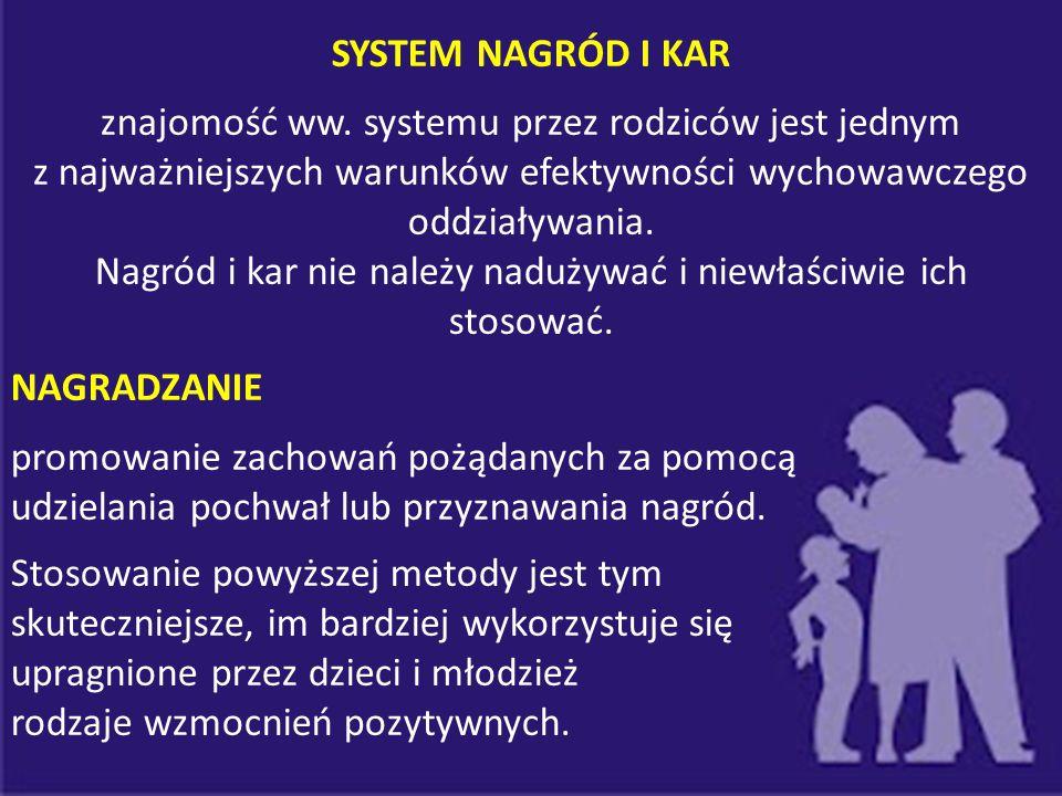 znajomość ww. systemu przez rodziców jest jednym