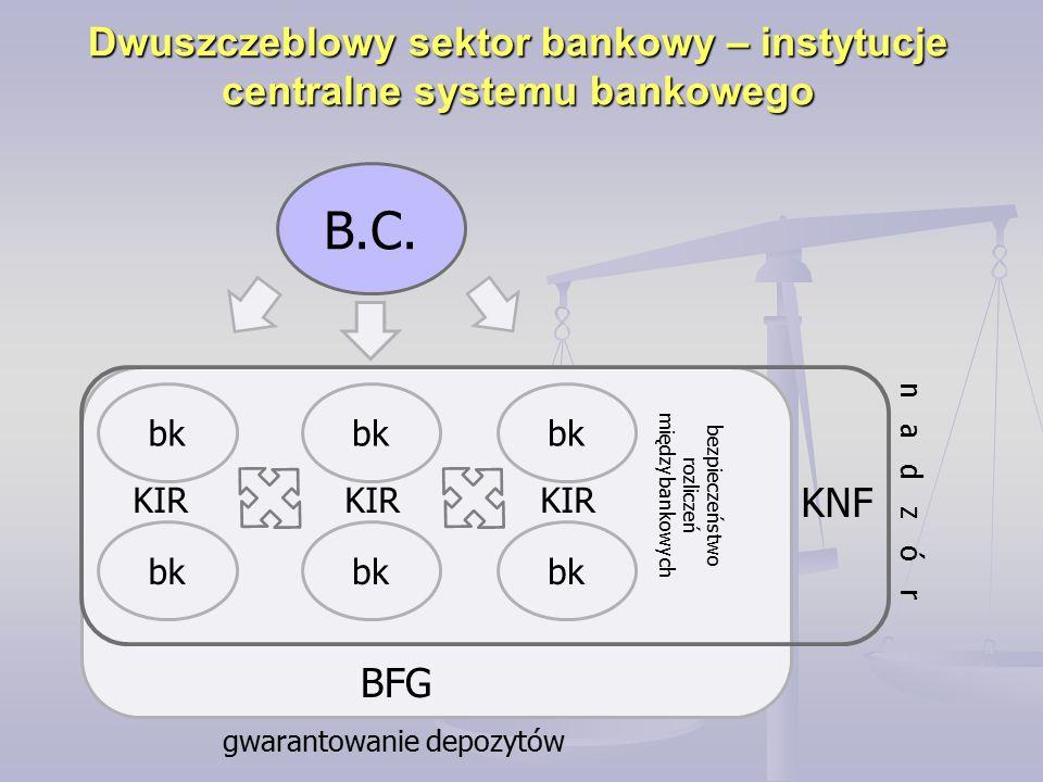 Dwuszczeblowy sektor bankowy – instytucje centralne systemu bankowego