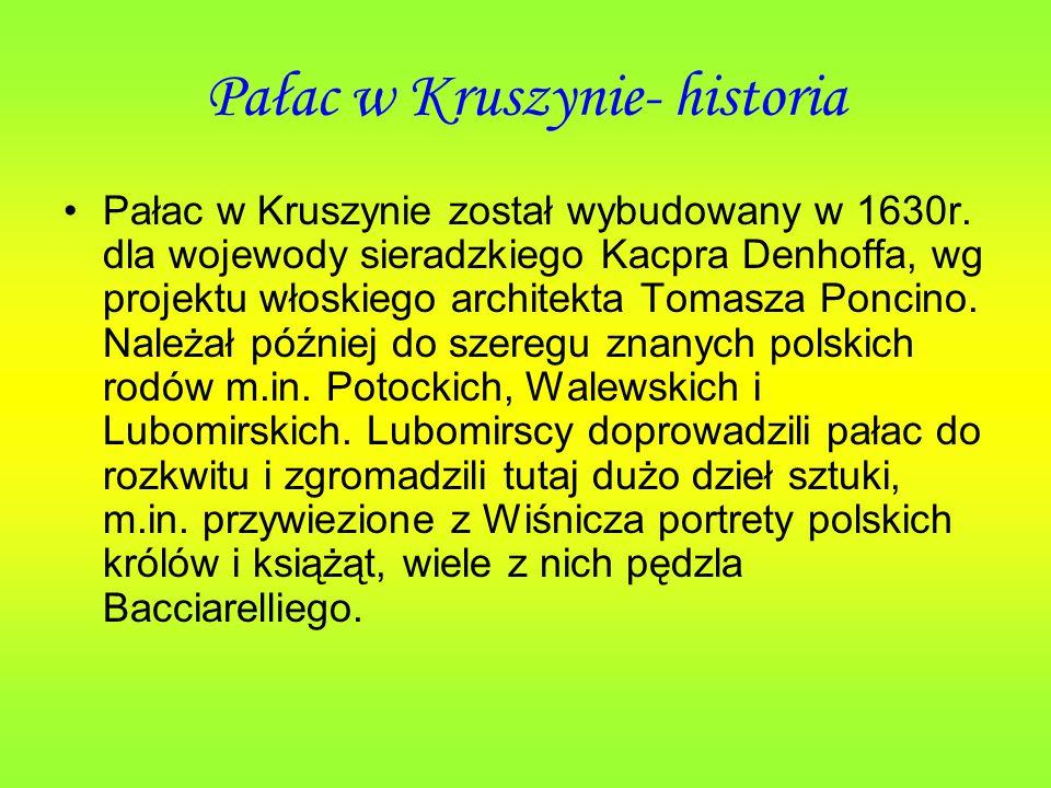 Pałac w Kruszynie- historia