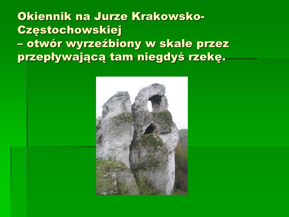 Okiennik na Jurze Krakowsko-Częstochowskiej – otwór wyrzeźbiony w skale przez przepływającą tam niegdyś rzekę.