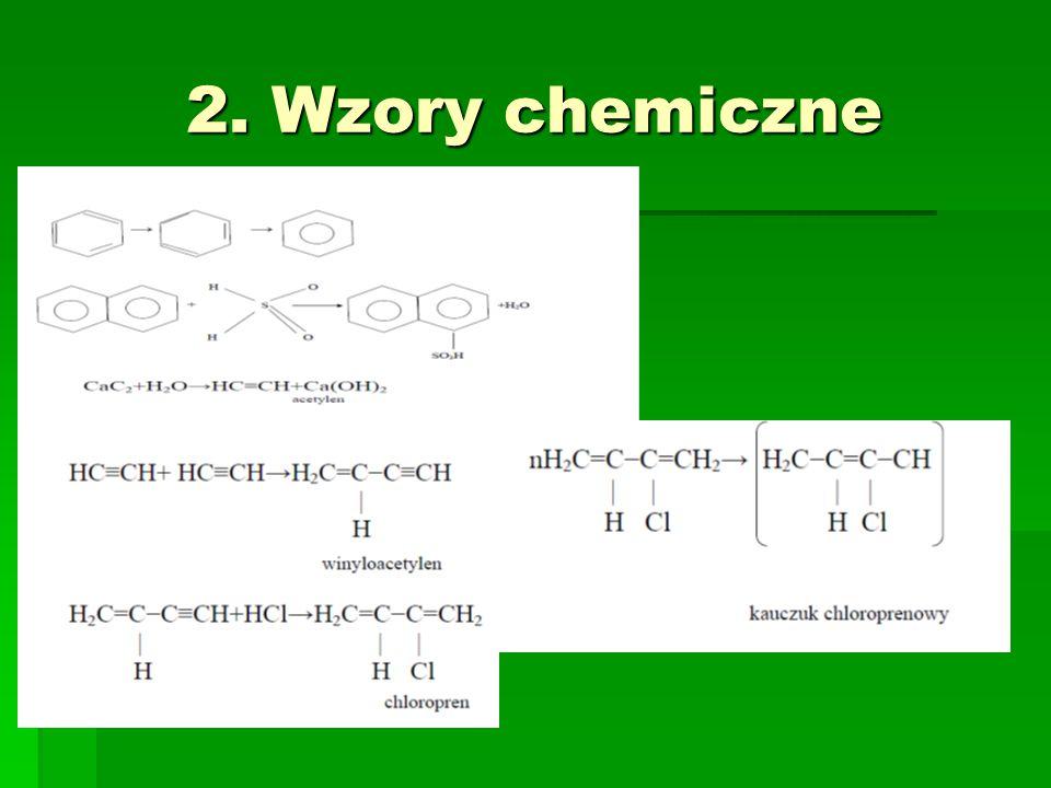 2. Wzory chemiczne
