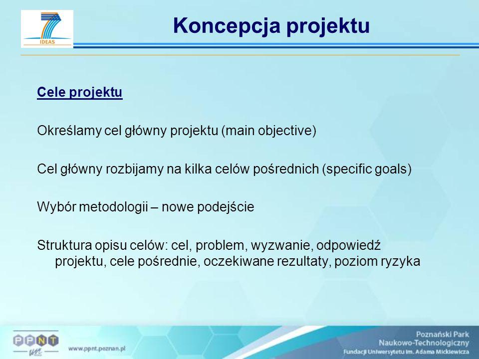 Koncepcja projektu Cele projektu