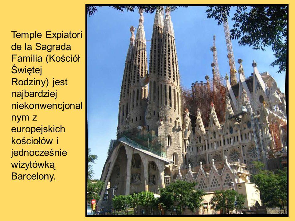 Temple Expiatori de la Sagrada Familia (Kościół Świętej Rodziny) jest najbardziej niekonwencjonalnym z europejskich kościołów i jednocześnie wizytówką Barcelony.