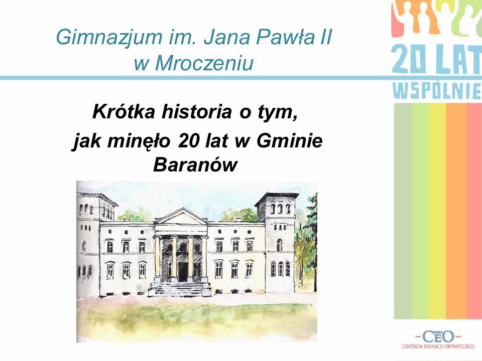 Gimnazjum im. Jana Pawła II w Mroczeniu