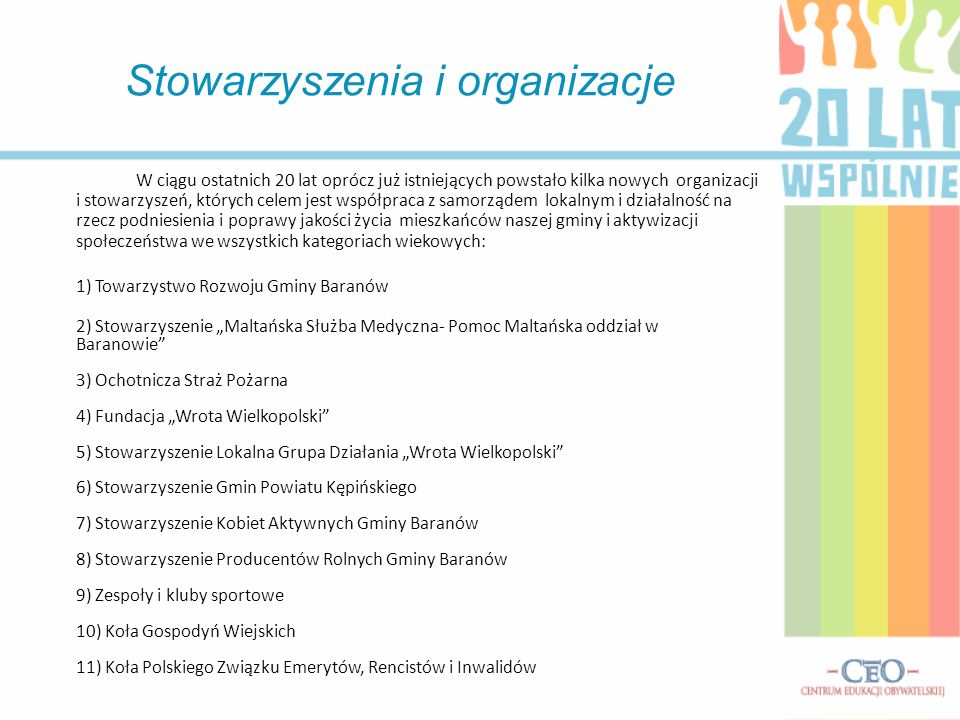 Stowarzyszenia i organizacje