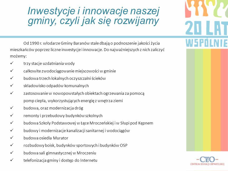 Inwestycje i innowacje naszej gminy, czyli jak się rozwijamy