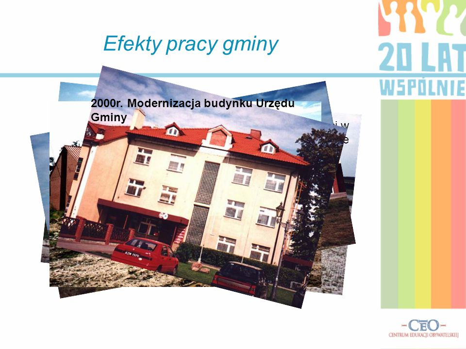 Efekty pracy gminy 2000r. Modernizacja budynku Urzędu Gminy