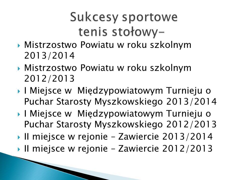 Sukcesy sportowe tenis stołowy-