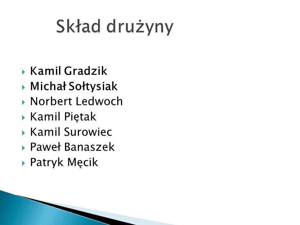 Skład drużyny Kamil Gradzik Michał Sołtysiak Norbert Ledwoch