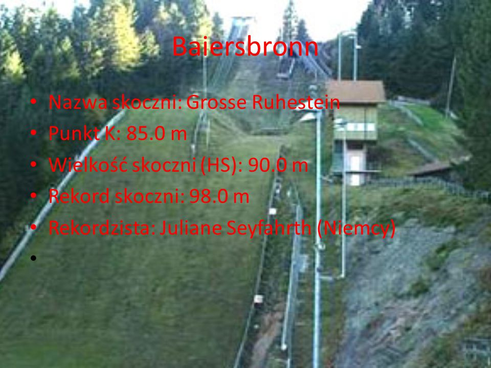 Baiersbronn Nazwa skoczni: Grosse Ruhestein Punkt K: 85.0 m