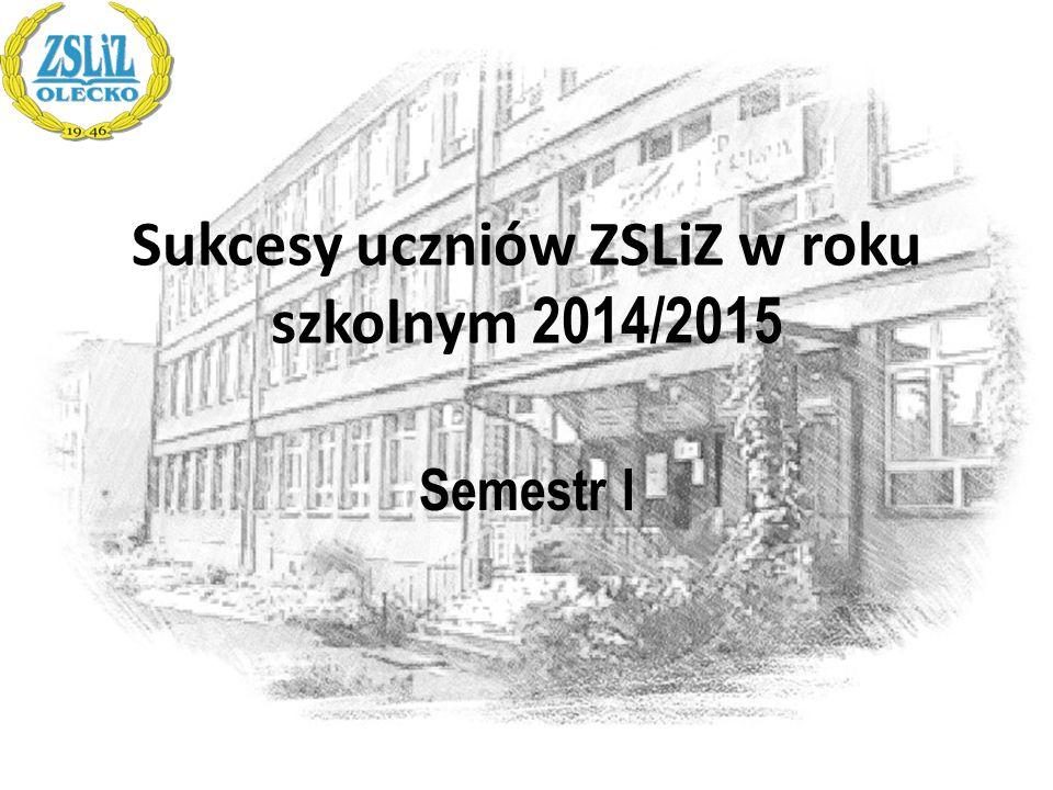 Sukcesy uczniów ZSLiZ w roku szkolnym 2014/2015