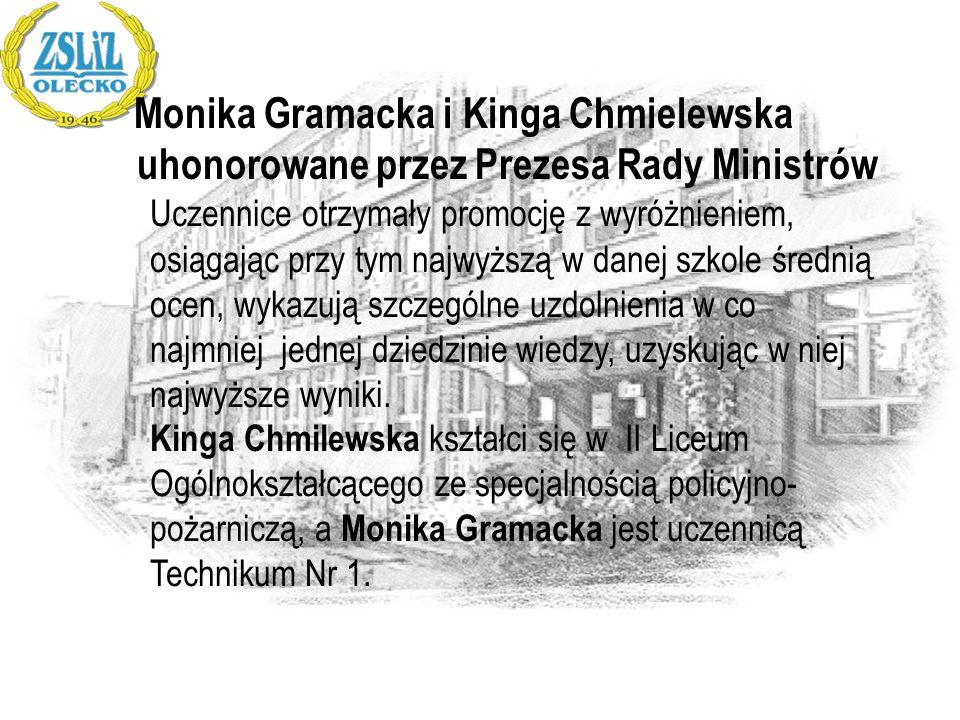 Monika Gramacka i Kinga Chmielewska uhonorowane przez Prezesa Rady Ministrów