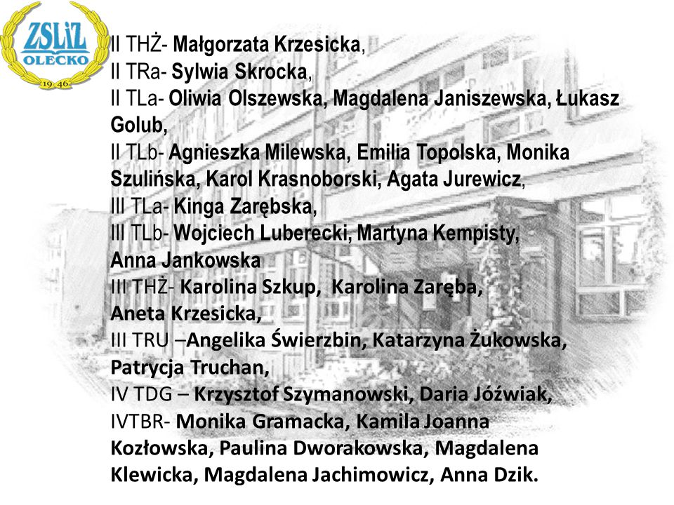 II THŻ- Małgorzata Krzesicka,