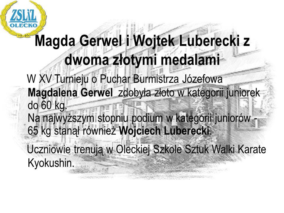 Magda Gerwel i Wojtek Luberecki z dwoma złotymi medalami