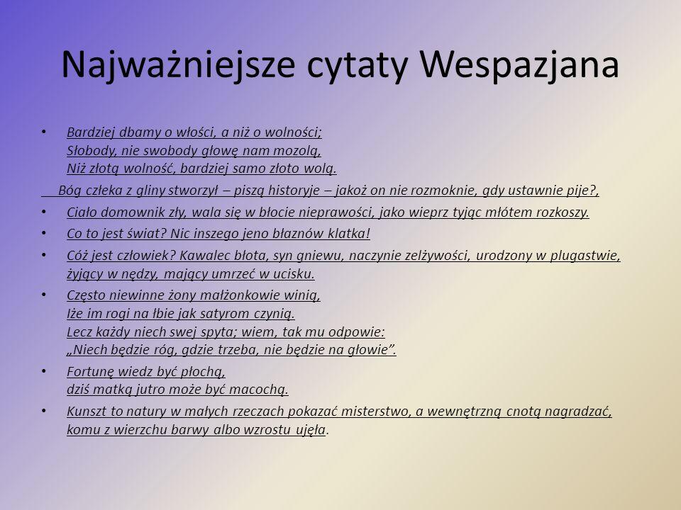 Najważniejsze cytaty Wespazjana