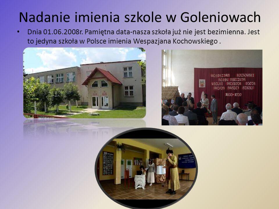 Nadanie imienia szkole w Goleniowach