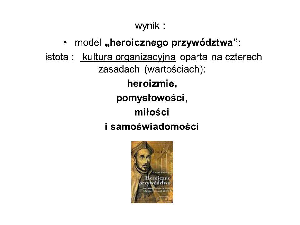 """model """"heroicznego przywództwa :"""