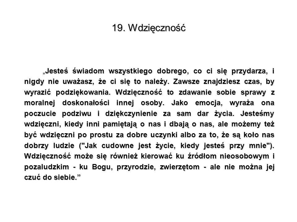 19. Wdzięczność