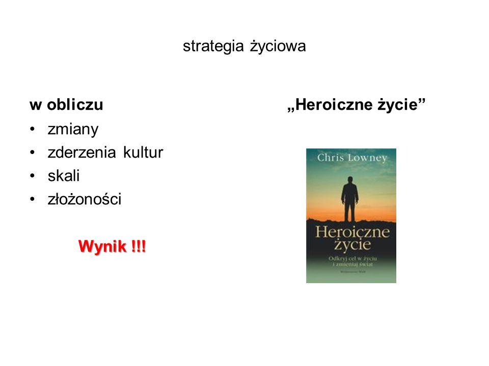 """strategia życiowa w obliczu """"Heroiczne życie zmiany zderzenia kultur skali złożoności Wynik !!!"""