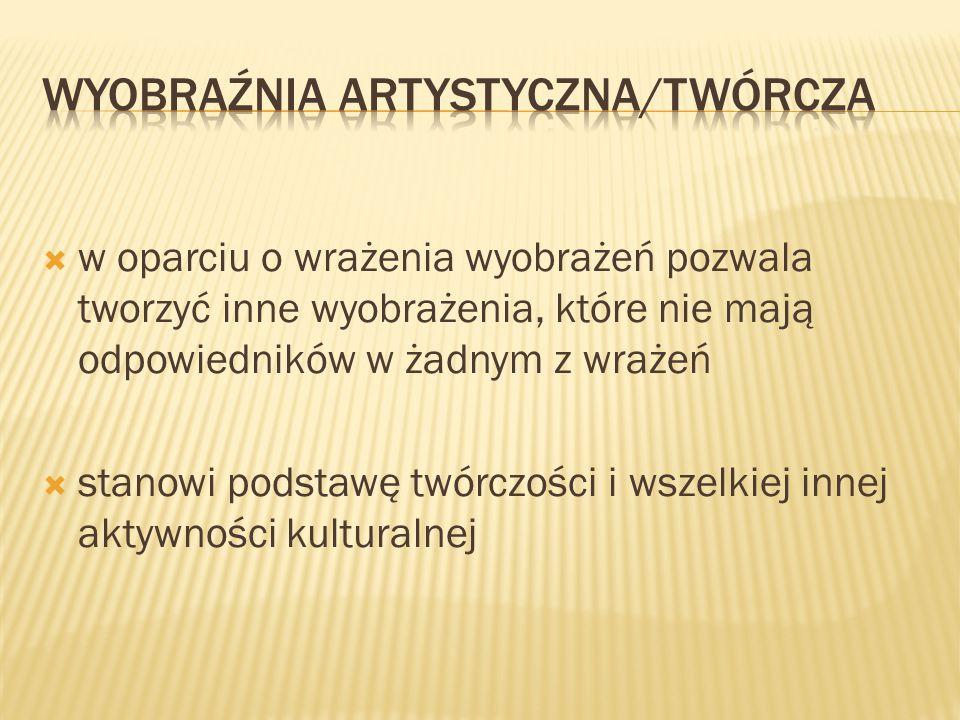 WYOBRAŹNIA ARTYSTYCZNA/twórcza