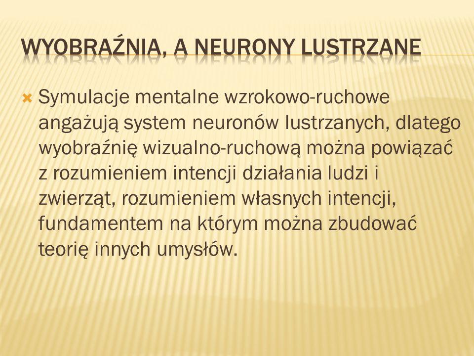 Wyobraźnia, a neurony lustrzane