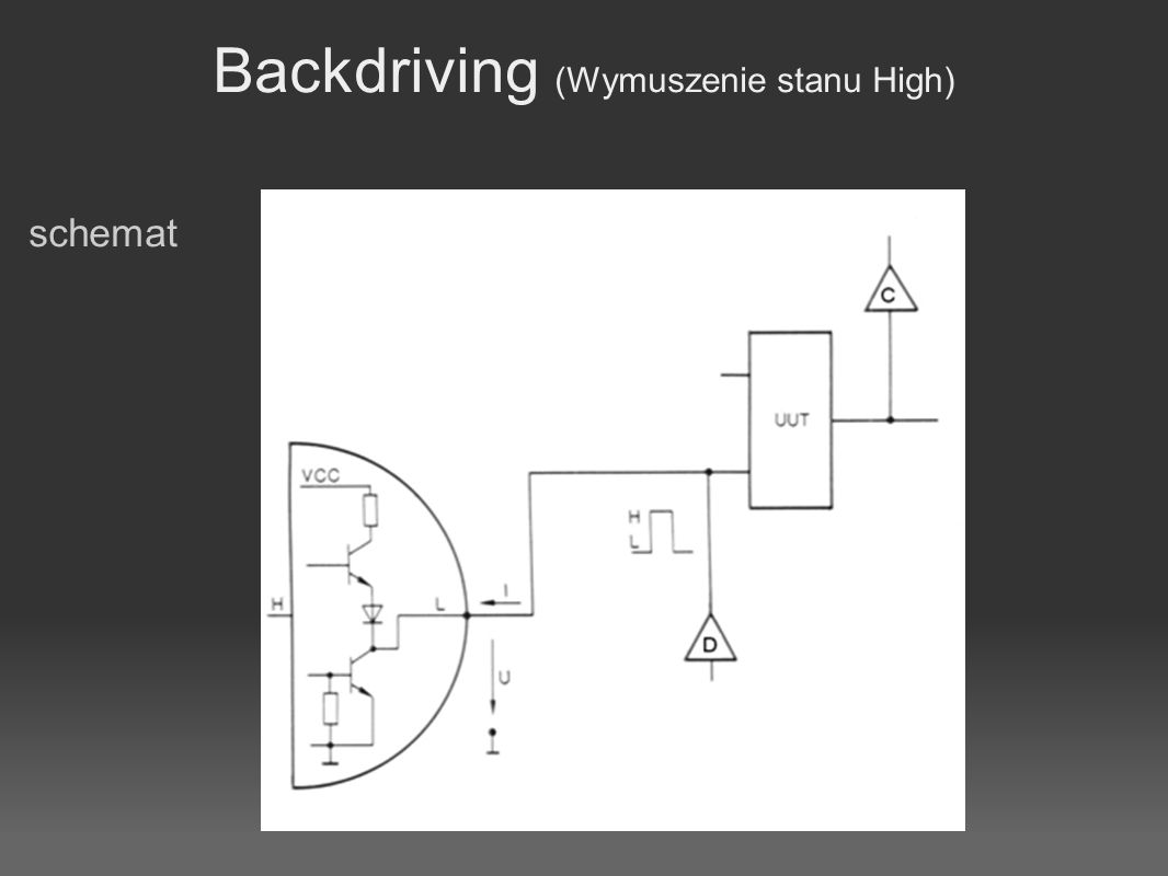 Backdriving (Wymuszenie stanu High)