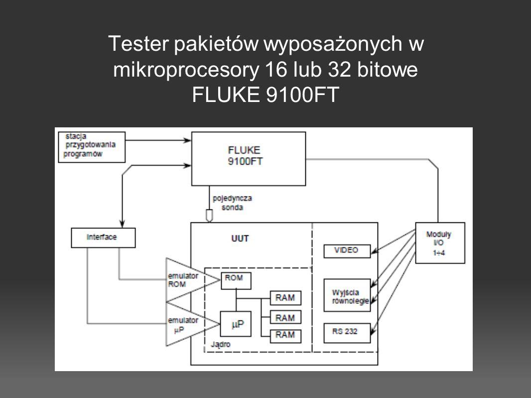 Tester pakietów wyposażonych w mikroprocesory 16 lub 32 bitowe FLUKE 9100FT