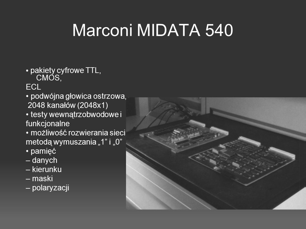 Marconi MIDATA 540 • pakiety cyfrowe TTL, CMOS, ECL